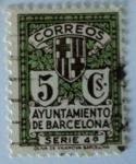 sellos de Europa - España -  Correos Ayuntamiento de Barcelona Serie 4ª