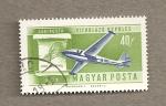 Stamps Hungary -  Avión