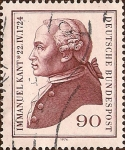 Stamps : Europe : Germany :  Immanuel Kant - 22 / IV / 1724