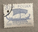 Sellos de Europa - Polonia -  Trirreme griega