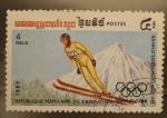 Stamps Asia - Cambodia -  R.P. KAMPUCHEA XIV juegos de invierno