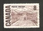 Stamps : America : Canada :  autovía en Alaska