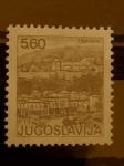 Stamps of the world : Yugoslavia :  Paisaje de la ciudad de Travnik