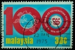 Sellos de Asia - Malasia -  100 Aniversario de la Unión Postal Mundial