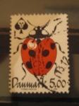 Sellos de Europa - Dinamarca -  Mariquita de picas
