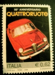 Stamps : Europe : Italy :  80 Aniversario Quatreroute