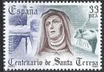Sellos de Europa - España -  2674   IV Centº.  de la muerte de Santa Teresa de Ávila.