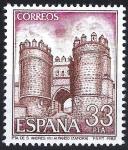 Stamps Spain -  2680 Paisajes y monumentos. Puerta de San Andrés, Villalpando, Zamora.