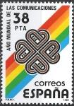 Stamps Spain -  2709 Año Mundial de las Comunicaciones. Logotipo.