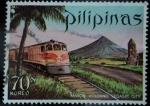 Sellos de Asia - Filipinas -  Ciudad de Legaspi_Volcán Mayon