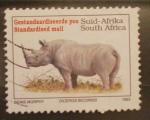 Sellos de Africa - Sudáfrica -  rinoceronte