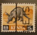 Stamps Africa - Kenya -  ant bear