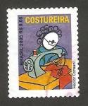 Stamps : America : Brazil :  oficio de costurera