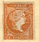Sellos del Mundo : Europa : España : Isabel II Edicion 1856