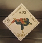 Stamps : Europe : Monaco :  XVIII olimpiadas tokyo 1964