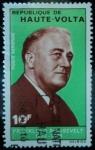 Stamps of the world : Burkina Faso :  República de Alto Volta / Franklin D. Roosevelt