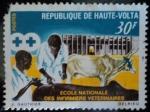 Stamps of the world : Burkina Faso :  República de Alto Volta / Escuela Nacional de Enfermería Veterinaria