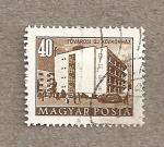 Sellos de Europa - Hungría -  Edificio apartamentos