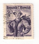 Stamps Austria -  mujer