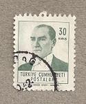 Stamps Turkey -  Presidente Kemal Atarturk