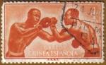 Sellos del Mundo : Europa : España : GUINEA ESPAÑOLA -Boxeadores