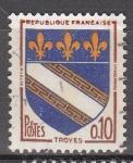 Sellos del Mundo : Europa : Francia : Heráldica-Troyes
