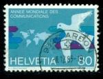 Sellos del Mundo : Europa : Suiza : Año mundial de las comunicaciones
