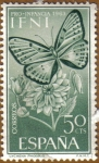Stamps Spain -  IFNI - Mariposa