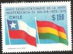 Sellos de America - Chile -  150° ANIVERSARIO DE LA INDEPENDENCIA DE BOLIVIA