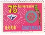 Stamps : America : Guatemala :  75 aniversario del Club Rotario