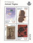 Stamps Spain -  arte contemporáneo, antoni tápies