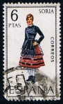 Sellos de Europa - España -  1957  Traje Regiona de Soria