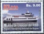 Sellos de America - Bolivia -  10 Años de creacion del RIBB - Registro Internacional Boliviano de Buques