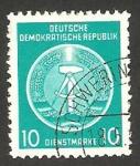 Sellos de Europa - Alemania -  4 - blasón de la R.D.A.