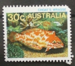 Stamps Australia -  choat's wrasse