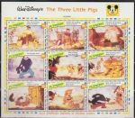 Stamps America - Saint Vincent and the Grenadines -  San Vicente 1992 Scott 1792 Sellos HB ** Walt Disney The Three Little Pigs (1933) Los 3 Cerditos
