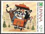 Sellos del Mundo : America : Guyana : Guyana 1991 Scott 2471 Sello ** Walt Disney Tarjetas de Felicitacion Originales de 1962 2,55$