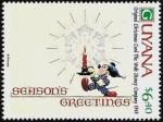 Sellos del Mundo : America : Guyana : Guyana 1991 Scott 2473 Sello ** Walt Disney Tarjetas de Felicitacion Originales de 1971 6,40$
