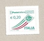 Stamps Italy -  bandera italiana esquemática