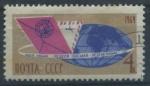 Sellos de Europa - Rusia -  Scott 2940 - Carta y globo