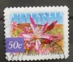 Sellos de Oceania - Australia -  desert star flower