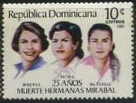 Sellos del Mundo : America : Rep_Dominicana : Scott 958 - 25 años Muerte Hermanas Mirabal
