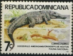 Sellos del Mundo : America : Rep_Dominicana : Scott C314 - Fauna Nacional - Cocodrilo americano