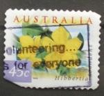 Sellos de Oceania - Australia -  hibbertia