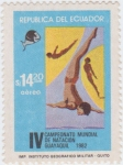 Stamps Ecuador -  IV Campeonato Mundial de Natación Guayaquil 1982