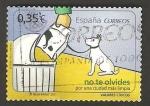 Stamps Spain -  valores cívicos, no te olvides, por una ciudad mas limpia