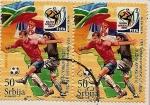 Stamps Europe - Serbia -  Fútbol -  FIFA  2010   Sudáfrica