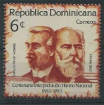 Sellos de America - Rep Dominicana -  Scott 887 - Cent. Interpretacion Himno Nacional