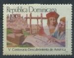 Sellos de America - Rep Dominicana -  Scott 1004 - V Cent Descubrimiento America