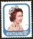 Stamps New Zealand -  REINA ISABEL
